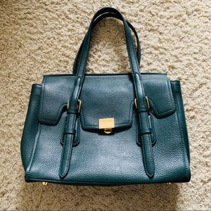 BCBGMAXAZRIA Forest Green Satchel